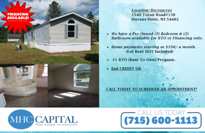 Mobile Home at 1540 Torun Rd #138 Stevens Point, WI 54482