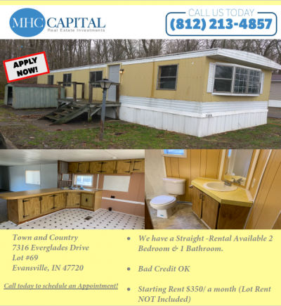 Mobile Home at 7316 Everglades Dr Lot 69 Evansville, IN 47720