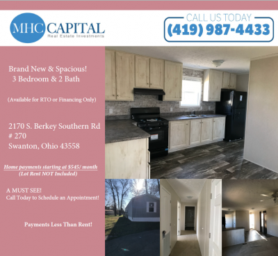 Mobile Home at 2170 S Berkey Southern Rd #270 Swanton, OH 43558