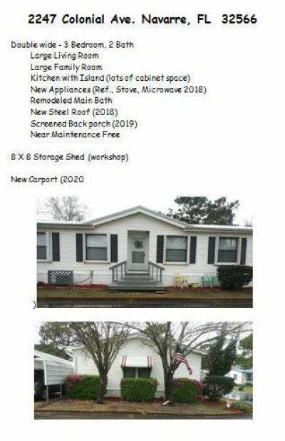 Mobile Home at 2247 Colonial Ave Navarre, FL 32566