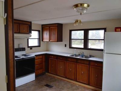 Kitchen with stove and fridge