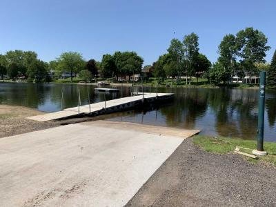 Public boat launch at lake