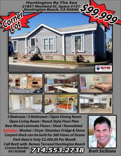 Mobile Home at 21851 Newland Street #151 Huntington Beach, CA 92646
