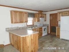 Hickory cabinets in kitchen