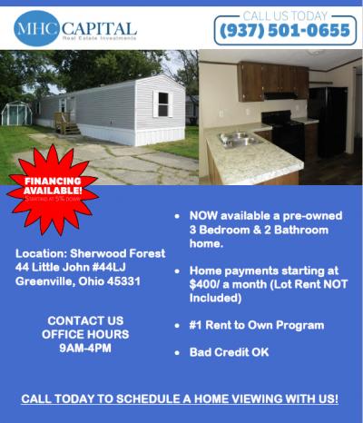 Mobile Home at 44 Little John Greenville, OH 45331