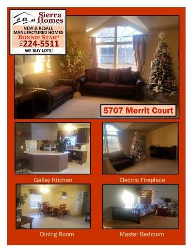 Mobile Home at 5707 Merritt Court Sun Valley, NV 89433