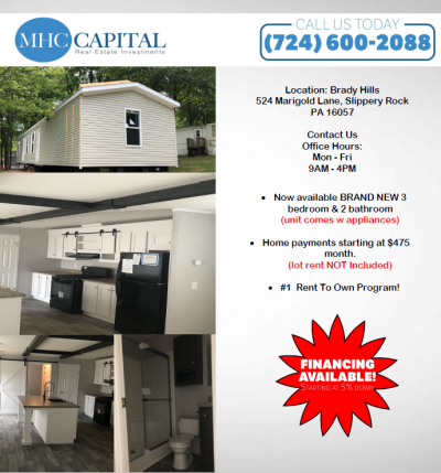 Mobile Home at 524 Marigold Lane Slippery Rock, PA 16057
