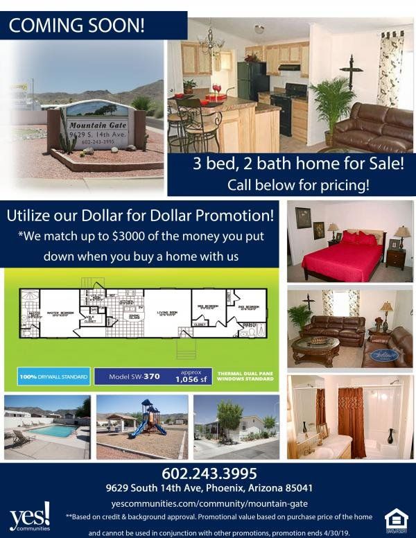 2019 SOLITAIRE Mobile Home For Rent