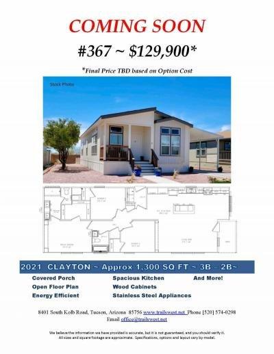 Mobile Home at 8401 S Kolb Rd #367 Tucson, AZ 85756
