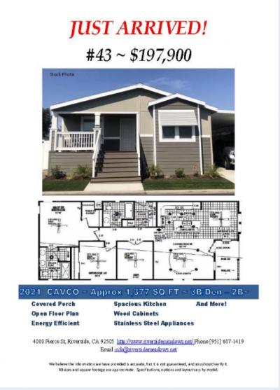 Mobile Home at 4000 Pierce St. # 43 Riverside, CA 92505