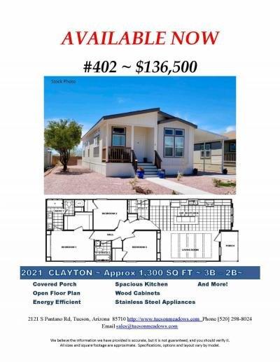 Mobile Home at 2121 S. Pantano Rd #402 Tucson, AZ 85710