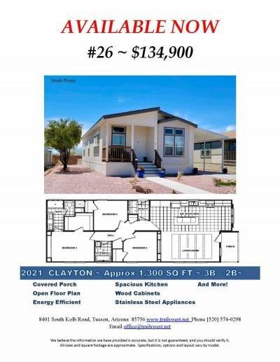 Mobile Home at 8401 S. Kolb #26 Tucson, AZ 85756