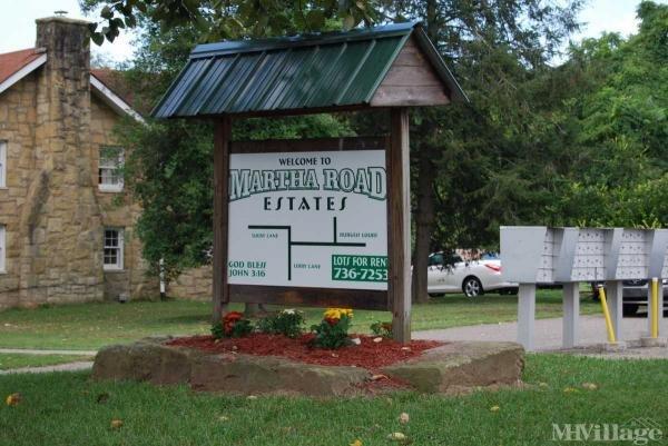 Martha Road Estates Mobile Home Park in Barboursville, WV