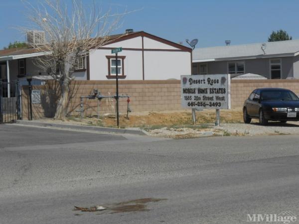 Photo of Desert Rose Mobile Home Estates, Rosamond, CA
