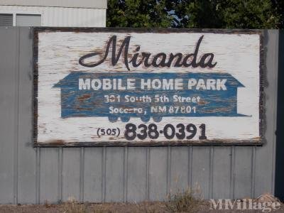 Mobile Home Park in Socorro NM