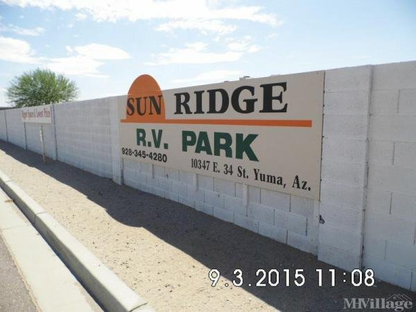 Photo of Sunridge RV Park, Yuma, AZ