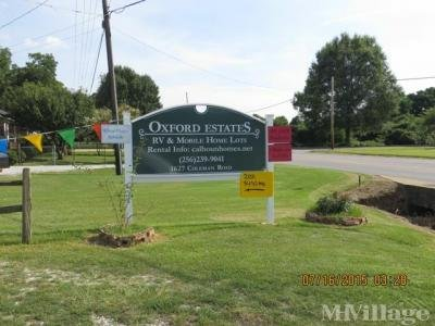 Mobile Home Park in Oxford AL
