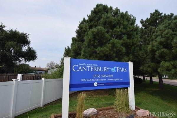 Canterbury Park Mobile Home Park in Colorado Springs, CO