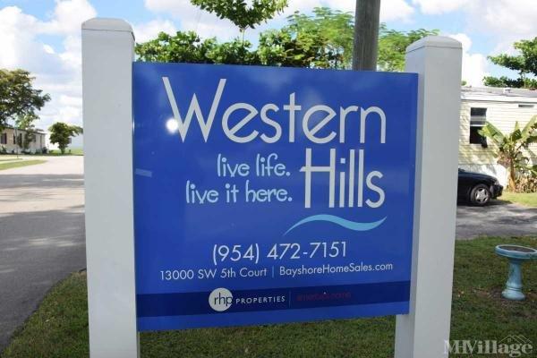 Western Hills Estates Mobile Home Park in Davie, FL
