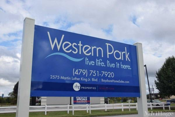 Western Park Mobile Home Park in Fayetteville, AR