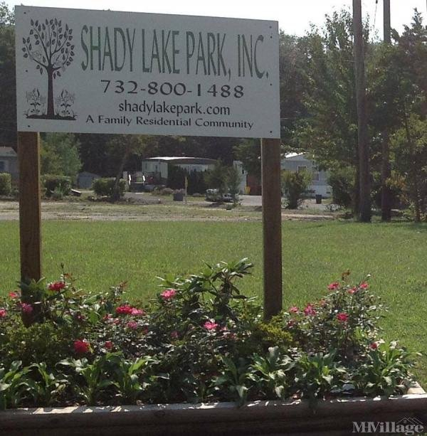 Shady Lake Park, Inc. Mobile Home Park in Jackson, NJ