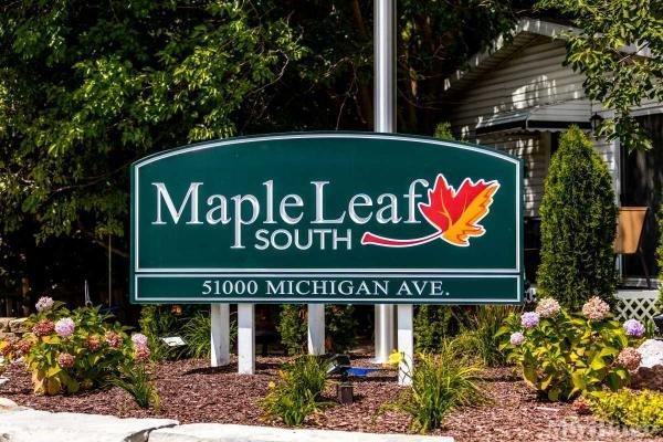 Maple Leaf South Mobile Home Park in Belleville, MI