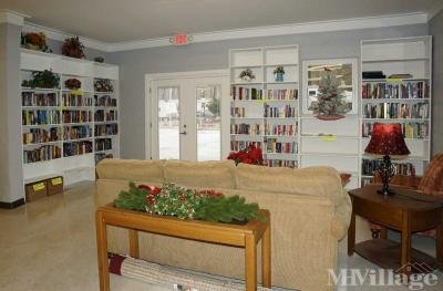 Community library in clubhouse