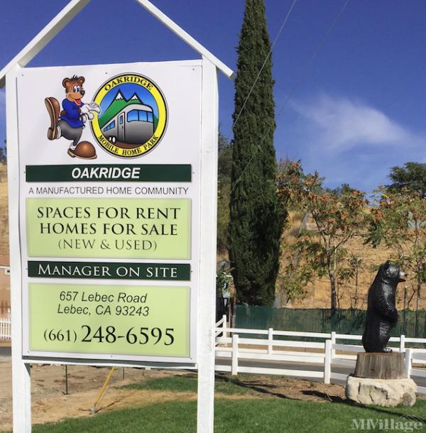 Photo of Oakridge Mobile Home Park, Lebec, CA