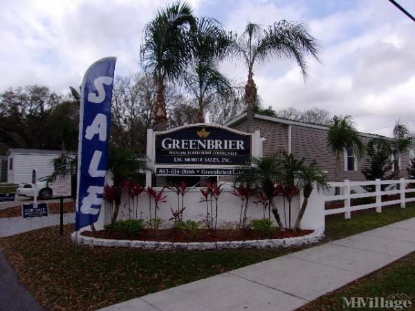Greenbrier Village Mobile Home Park in Lakeland, FL