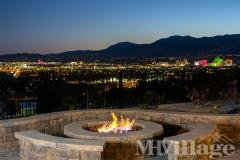 Night time view from firepit