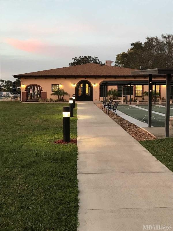 Our clubhouse at sunset
