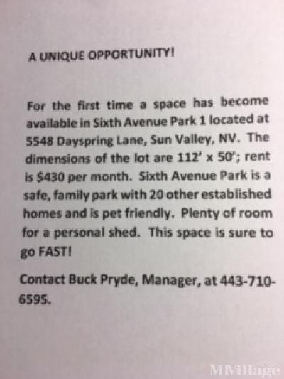Vacant Lot contact information