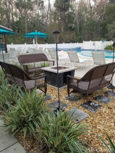 Fire pit at pool area