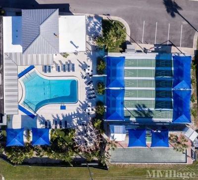 Aerial View of Pool, Shuffleboard