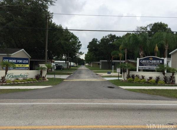 Greenbrier Village, Inc. Mobile Home Park in Pinellas Park, FL