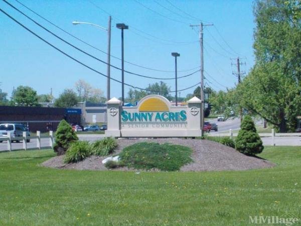 Sunny Acres Mobile Home Community Mobile Home Park in Dayton, OH