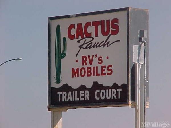 Cactus Ranch Trailer Court Mobile Home Park in Morristown, AZ