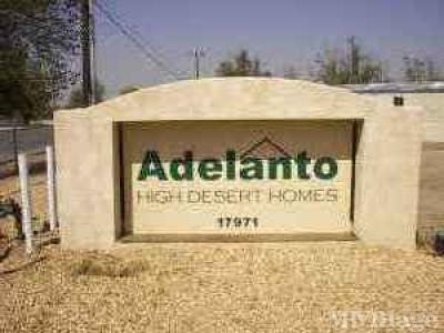 Mobile Home Park in Adelanto CA