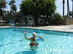 Pool heated year around