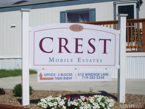 Crest Mobile Estates Mobile Home Park in Fountain, CO