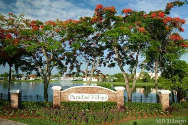 Paradise Village Mobile Home Park in Davie, FL
