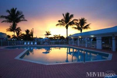 Beautiful sunset over the pool
