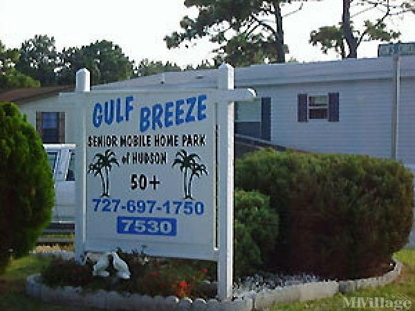 Gulf Breeze Mobile Home Park Mobile Home Park in Hudson, FL