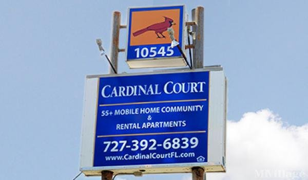 Cardinal Court Mobile Home Community Mobile Home Park in Largo, FL