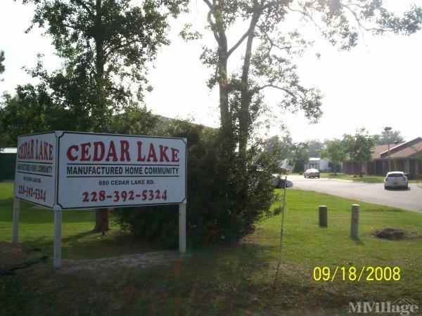 Cedar Lake Mobile Home Village Mobile Home Park in Biloxi, MS
