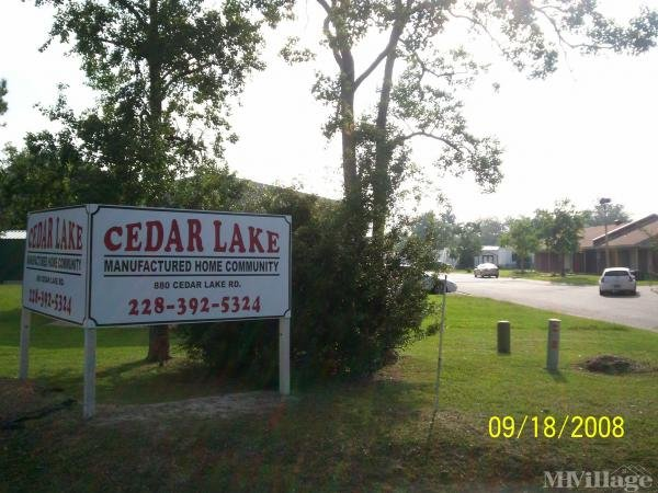 Cedar Lake Mobile Home Village Mobile Home Park in Biloxi, MS