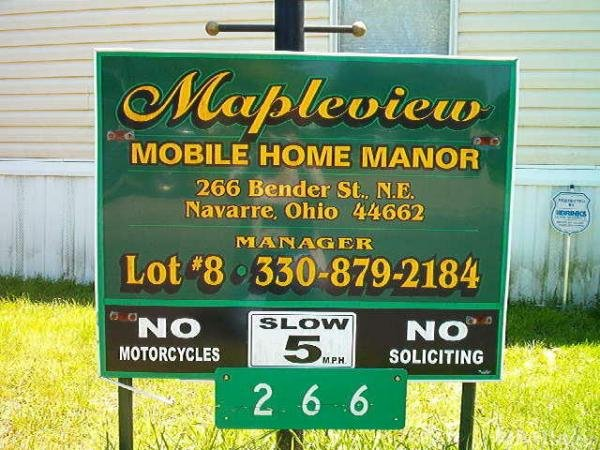 Mapleview M H Manor Mobile Home Park in Navarre, OH