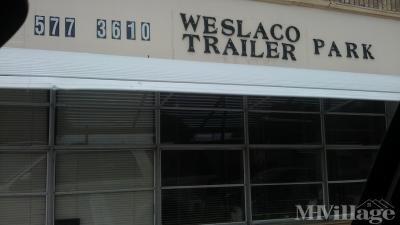Mobile Home Park in Weslaco TX