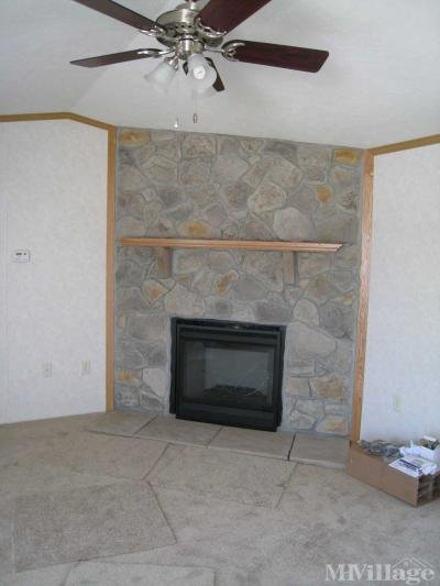 Hand laid stone gas fireplace