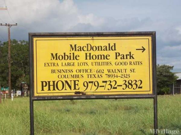 Photo of MacDonald Mobile Home Park, Columbus, TX